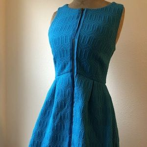 LEIFSDOTTIR JACQUARD SLEEVELESS DRESS 4 blue
